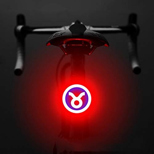 KYH Ricaricabile LED Ad Alta Luminosità Cinque modalità Lampeggiante di Sicurezza Notturna in Bicicletta Creativo Taillight Taurus