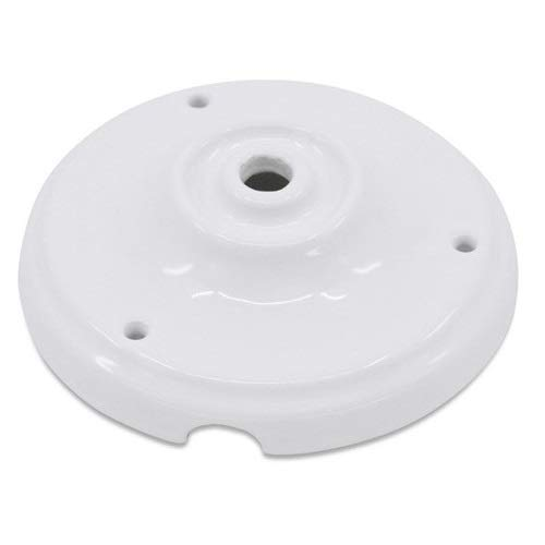 Floron de ceramica para lamparas Blanco