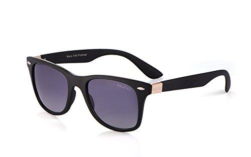 Miuno Occhiali da sole polarizzati da uomo e donna, confezione regalo e panno per occhiali 4195 oro rosa. Taglia unica