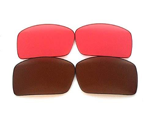 Galaxy Prizm Technology vervangende lens voor Oakley Gascan zonnebril bruin/robijn