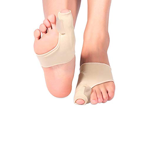 Bunion Relief Sleeves, Bunion Corrector Big Toe Separator, Toe Joint Protector Pad with Silicone Gel Pad for Hallux Valgus, Bunion Pain Relief