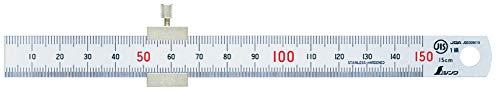 シンワ測定(Shinwa Sokutei) 直尺 シルバー ストッパー付き 15cm 76751