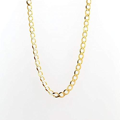 Eternity - Cadena de eslabones de corte de diamante para hombre (9 quilates, 50 cm)