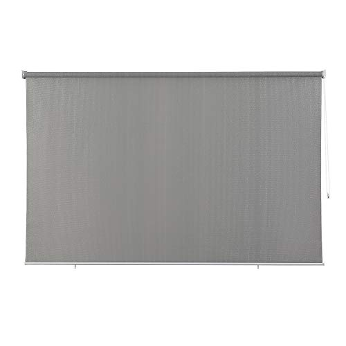 PHI VILLA Outdoor Patio Sun Shade Roller Shade 8ft(W) by 6ft(H) Grey