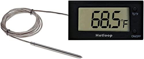 Hotloop Termometro Forno Digitale con Sonda, Termometro da Cucina interno con Grande Visualizzazione per BBQ Grill Pasticceria Pizza, Resistenti al Calore Fino a 300°c