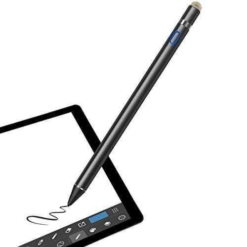 VIFLYKOO Stylus Stift, Active Stylus USB wiederaufladbar Digital Stift mit Verstellbarer Spitze für Schreiben und Zeichnenfür IOS,Android HandysiPad,Huawei,Samsung,Smartphones,Tablets - Schwarz
