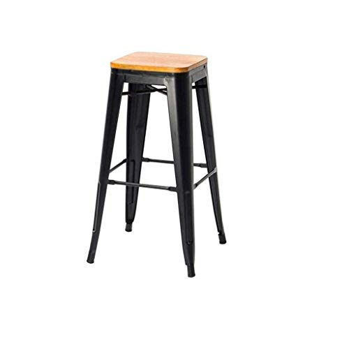 YLSP Galvanized Metal Counter Height Bar Stool | Industrial Stool Bar, Bistro Terrace Of The Best Home Garden Chairs | Indoor And Outdoor Use Industrial-style Breakfast Kitchen Vintage Stackable Chair