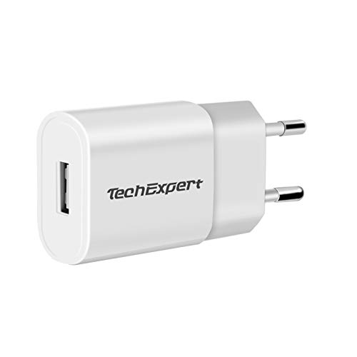 TechExpert - Cargador para iPhone 5, iPhone 4 y 4S, iPhone 3GS y 3G y iPod Touch (USB), Color Blanco
