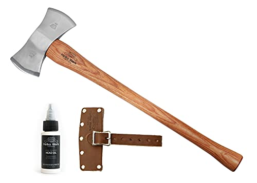 1844 Helko Werk Germany Double Bit Axe - Classic Odyssey - Double Edge Axe or Double Head Axe Felling Axe and Chopping Axe Double Bladed Axe for Large Timber Double Axe