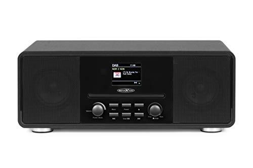 Reflexion HRA19DAB - Radio DAB con lettore CD e radiosveglia (FM, DAB, DAB+, Bluetooth, ingresso AUX, jack per cuffie, telecomando)