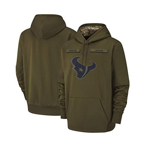 Wo nice Herren Pullover - NFL Houston Texans Hoodie, Kapuzenpullover Pullover Sport Langarm-Sweatshirt Fußball-Jacken,XXXL(190~195CM)