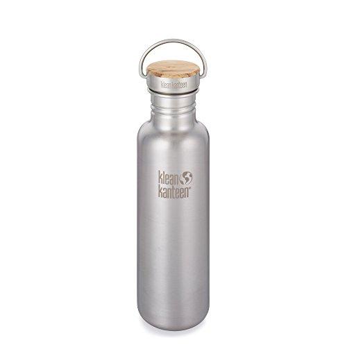 Klean Kanteen Reflect Flasche aus poliertem Stahl, 800ml, 2015, Unisex – Erwachsene, Reflect, Brushed Finish, 27 oz / 800 ml