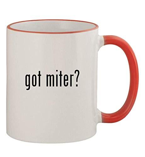 got miter? - 11oz Colored Handle and Rim Coffee Mug, Red