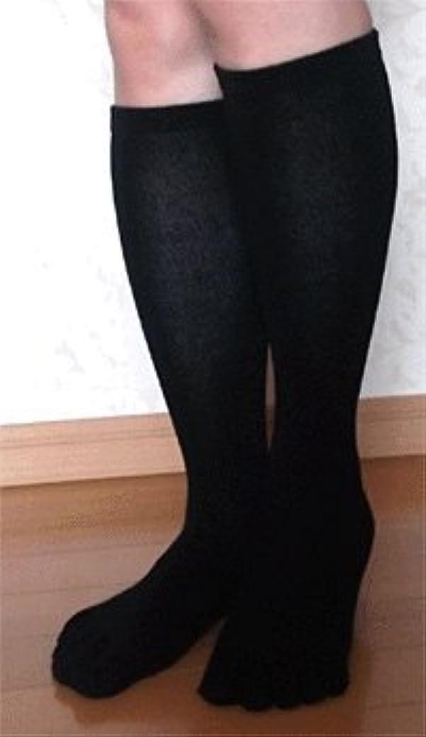 大学生上範囲日本製 高品質こだわりシルク 5本指ハイソックス 22~24cm お買得2足組 (すべりとめなし)