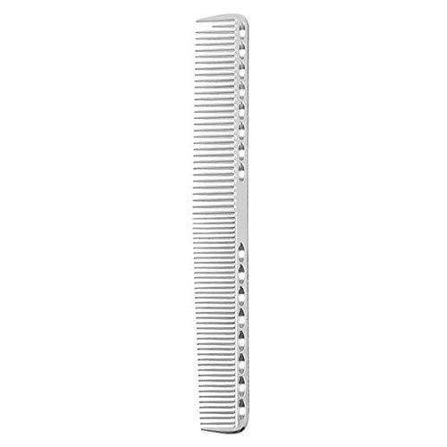 TUOF Dubbelzijdige kam anti-statische styling borstel staal aluminium ultra-dunne 19,5 cm haaraccessoires, Zilver