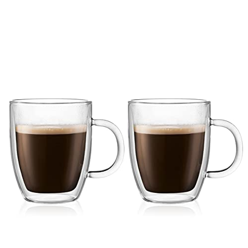 Bodum Bistro Coffee Mug, 10 Ounce (2-Pack), Clear