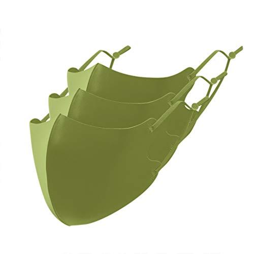 goalBY 3PCs Kids Boys Girls Children Cotton Washable Adjustable Soild Dustproof s (Green)