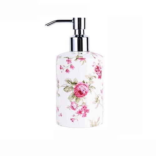 WGGTX Dispensador de jabón para Ducha Botella de cerámica desinfectante de la Mano Creativa del Hueso Porcelana Lleno Sub-Gel de Ducha Botella Hotel Beauty Salon Sub-Botella Hotel, Aseo