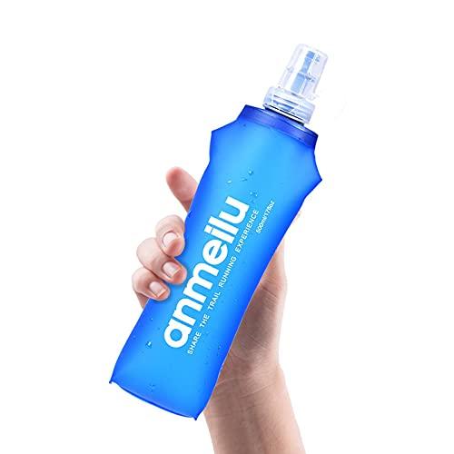 AIHOME Botellas de agua plegables suaves de TPU, frasco plegable sin BPA para correr, senderismo, ciclismo, escalada