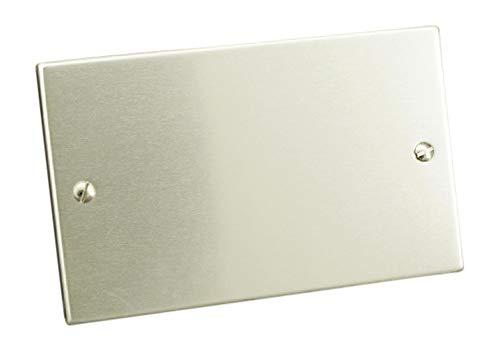 Placca alluminio cieca colore alluminio confezione 1 pezzo