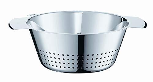 RÖSLE Seiher konisch, mit Schüttrand zum Abgießen von Flüssigkeiten, Edelstahl 18/10, Spülmaschinenfest, Durchmesser 24 cm