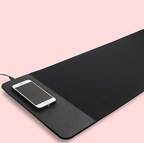 Black Wireless Charging Mouse Pad With Micro USB Ultra-Thin Qi Receiver Module For Samsung Galaxy Tab S2 8