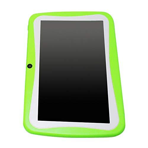 Pineapplen 7 Pulgadas para NiiOs Tableta Android Doble CáMara WiFi Juego Educativo Regalo para NiiOs NiiAs, Enchufe Verde EU