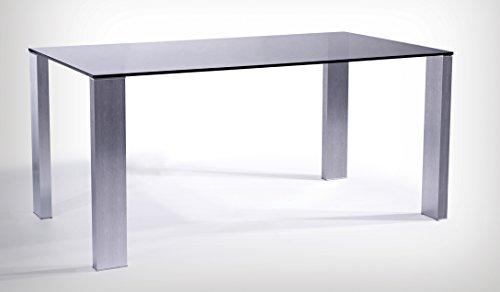 Tavolo in vetro nero e alluminio Design italiano PROMO OUTLET ONLINE fino a esaurimento scorte