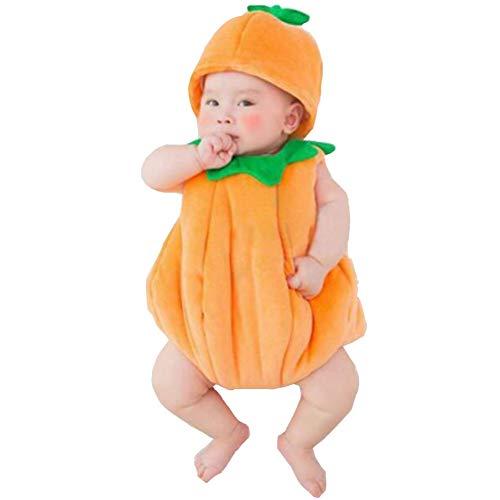 AIYObaby Neugeborenes Baby Fotografie Requisiten Junge Mädchen Kostüm Outfits Niedlichen Hut Hosen/Halloween Kürbis Kostüm (Kürbis)