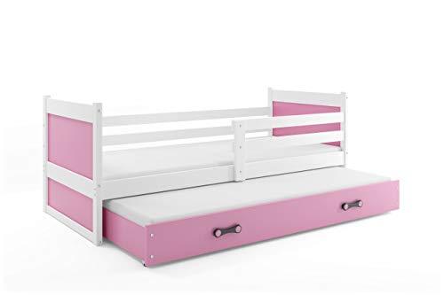 Cama nido rosa con somieres y cajón incluido