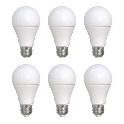 Preisvergleich Produktbild UMI by Amazon A60 LED-Lampe mit E27-Schraubsockel,  9 W (entspricht 60 W),  15.000 Stunden,  warmweiß (2700 K),  dimmbar - 6er-Pack