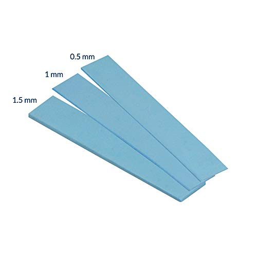 ARCTIC - Thermal Pad 120 x 20 x 1.0 mm Thermal Compound for All Coolers Efficient Thermal Conductivity Gap Filler Safe Handling Easy to Apply (2 Pieces)
