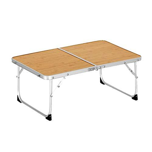 Tavolo pieghevole in lega di alluminio, tavolo da picnic con venature del legno per esterni, tavolo da mini computer portatile, piccolo tavolo da barbecue da campeggio, adatto per esterni, picnic