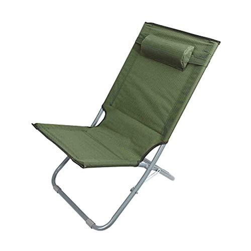 WUTONG Silla de Camping Unisex para Adultos Sillas de Playa Plegables para Exteriores Carga máxima 120 kg Tumbonas de balcón de Tela Oxford de Alta Resistencia