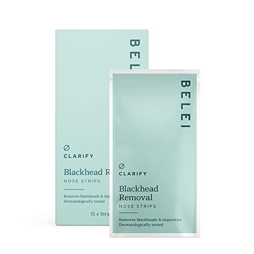 Belei - Tiras nasales para la limpieza de poros y puntos negros, 15 unidades