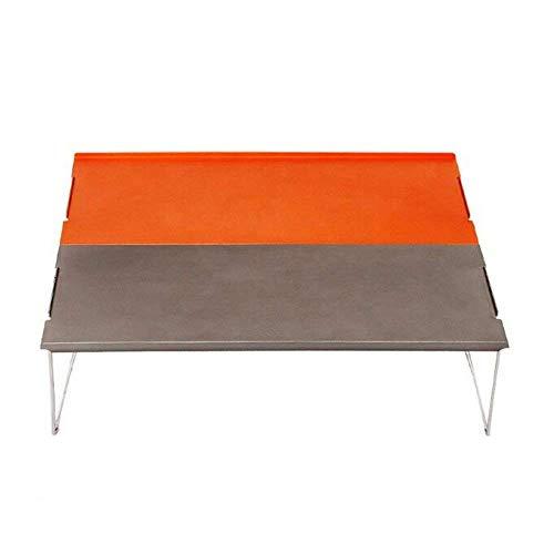 CAIJINJIN Silla de Campamento plegable de Acampar Silla, Mesa plegable portátil al aire libre ultra ligero de aluminio mini comedor Mesa for picnic recorrido que acampa (Tamaño: 35 * 25 * 10.7cm) Al a