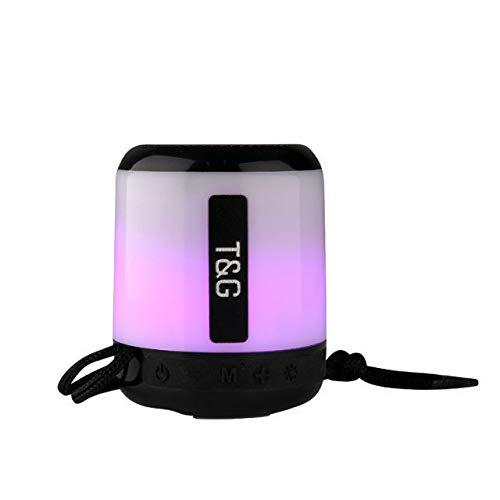 Cool LED Light Portable Bluetooth Speaker TG-156 - Black
