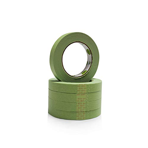 """Insta Finish Automotive Masking Tape 48 Rolls - Green Auto Masking Tape for Industrial and Commercial Use - Easy Stick and Release Automotive Paint Tape - Masking Paper Painting Tape - .75"""" Tape"""
