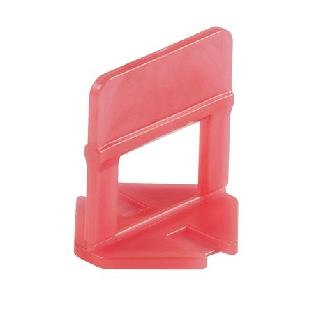 """Raimondi Leveling Clip 1/8"""" Joint, 1/8"""" to 1/2"""" Tile, Bag of 500 pcs, 180BS0003C0500 (red)"""
