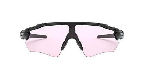 Oakley Men's OO9208 Radar EV Path Shield Sunglasses, Polished Black/Prizm Low Light, 38 mm