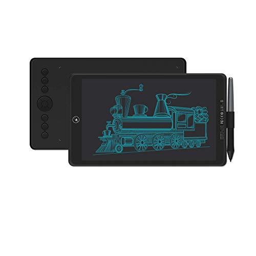 HUION Inspiroy Ink H320M Grafiktablett & LCD-Schreibtablett, Unterstützung von ±60 ° Neigefunktion, 8 Tastenkombinationen, Kompatibel mit Android, Ideal zum Malen und Zeichnen-Quarz Schwarz