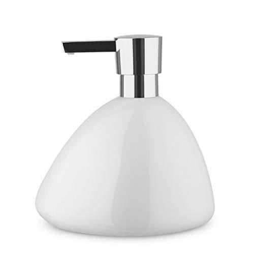 Dozownik Mydła Ceramiczny dozownik mydła do mydła w kształcie żwirowania, łazienka prysznicowa żelowa butelka do mydła Dozownik 450ml (15.2Z) Dozownik Mydła Piance Ręczny (Color : White)