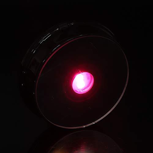 SALALIS Base LED Redonda, Siete Colores Base de luz LED de Siete Colores 3pcs Pilas AAA Base de luz LED Plástico para Botella de Vidrio para decoración de Figuras de Arte de Cristal