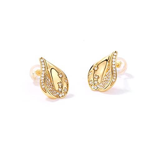 Pendientes de plata 925 con forma de corazón para mujer, regalo para ella, cristal, regalo para novia, cumpleaños, hija, madre, aniversario, madre, chapado en oro rosa dorado