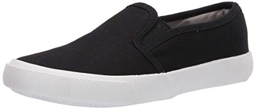 Boy Black Canvas Slip on Shoes