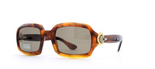 Gianfranco Ferre 389 8EF Damen Sonnenbrille, rechteckig, zertifiziert, Vintage-Stil, Braun