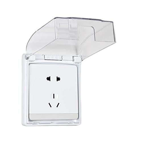 TAIYANYU Self-adhesive Waterproof Socket Cover, Wall Switch Socket Flip Cap Cover Box, Exterior Electrical Outlet Covers