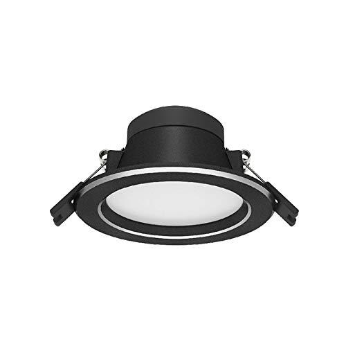 HSCW 2.5 Inch Indoor Lighting Downlight Warm Light 3000K LED Recessed Panel Light Restaurant Lamp, Cut-Out 75MM, Round Hallways Focus Lamp Stair Aisle Kitchen Bathroom Waterproof Spotlights