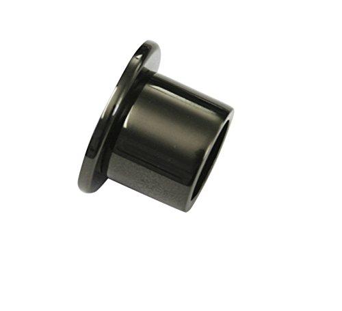 GARDINIA Wandlager für Gardinenstangen mit Durchmesser 20 mm, Inklusive Befestigungsmaterial, Wandmontage, Metall, Schwarz