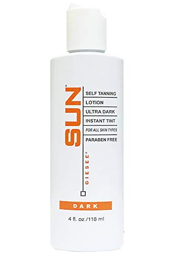 Sun Self Tanning Lotion Ultra Dark Instant Tint - Dark (4 oz.) by Sun Laboratories Self Tanner - Natural Sunless Tanning Lotion, Body and Face for Bronzing and Golden Tan - Dark Sunless Bronzer